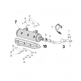 Podkładka mocowania osłony termicznej tłumika Peugeot Satelis