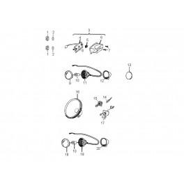 Kierunkowskaz prawy kompletny Aeon Crossland 300/350